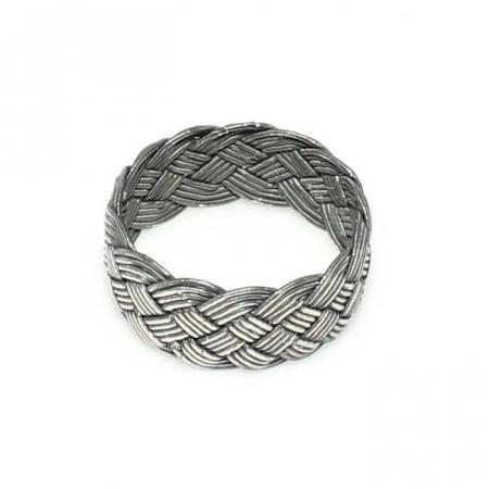 Inel argint handmade cu model impletit - ITU0222