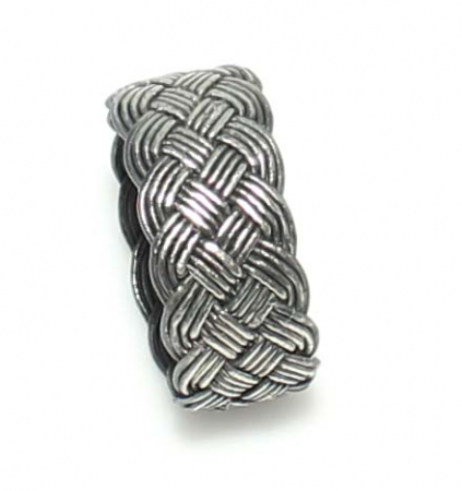Inel argint handmade cu model impletit - ITU02221
