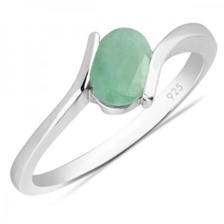 Inel argint Hope, 925, cu smarald - IVA0008