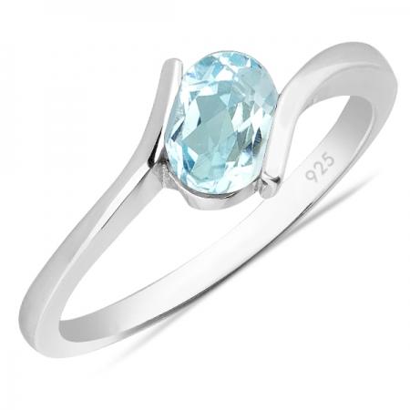 Inel argint Hope, 925, cu topaz albastru - IVA0009