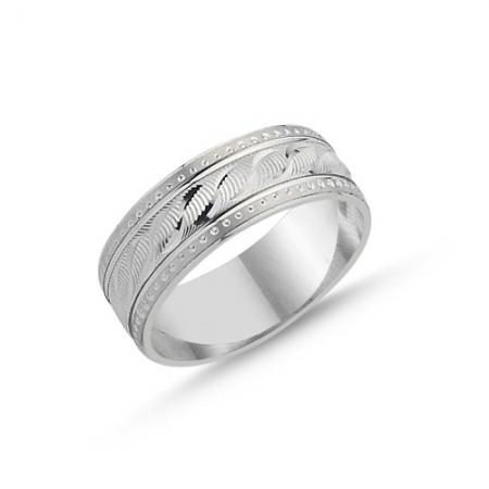 Inel argint lat cu model