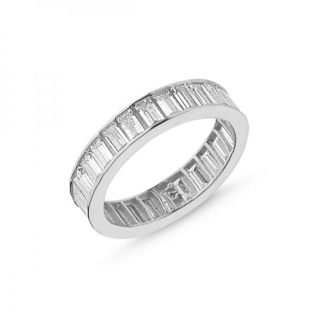 Inel argint lat cu zirconii - Eternity