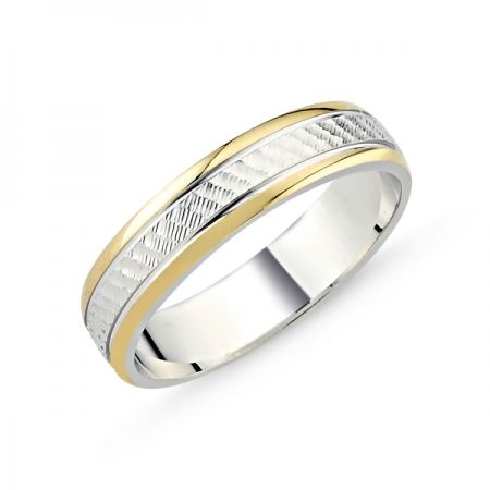 Inel argint lat placat cu aur pe exterior