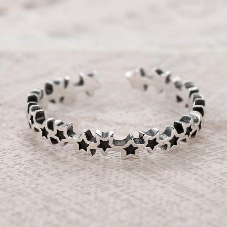Inel argint reglabil cu stelute [5]