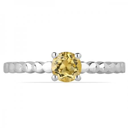Inel argint Rosalind, 925, cu citrin - IVA00561