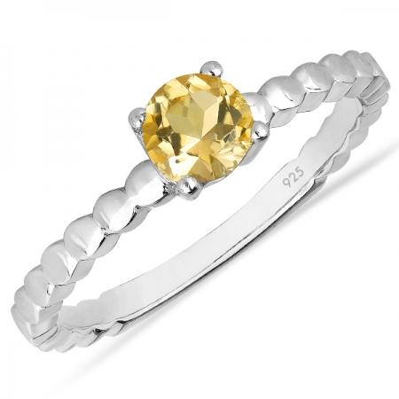 Inel argint Rosalind, 925, cu citrin - IVA00560