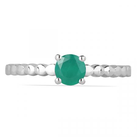 Inel argint Rosalind, 925, cu onix verde - IVA0061 [1]