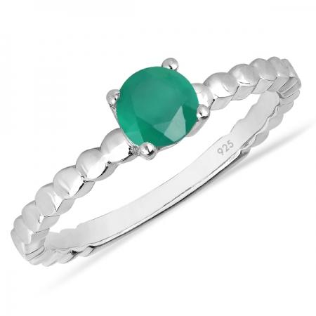 Inel argint Rosalind, 925, cu onix verde - IVA0061
