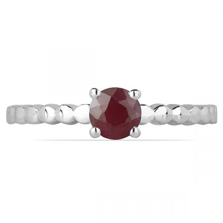 Inel argint Rosalind, 925, cu rubin - IVA00581