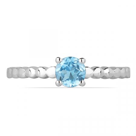 Inel argint Rosalind, 925, cu topaz albastru elvetian - IVA00621