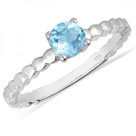 Inel argint Rosalind, 925, cu topaz albastru elvetian - IVA0062