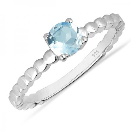 Inel argint Rosalind, 925, cu topaz Sky Blue - IVA0060