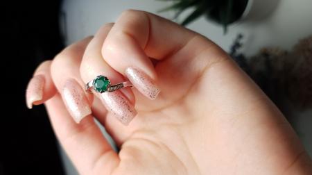 Inel argint Roxelana, 925, cu agat verde - IVA0071 [3]