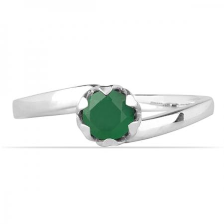 Inel argint Roxelana, 925, cu agat verde - IVA00711