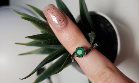 Inel argint Roxelana, 925, cu agat verde - IVA0071 [2]