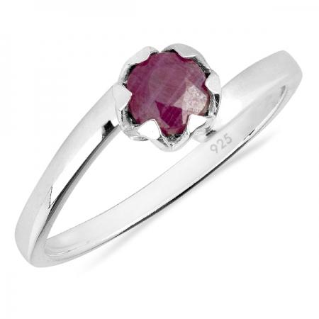 Inel argint Roxelana, 925, cu rubin - IVA0068