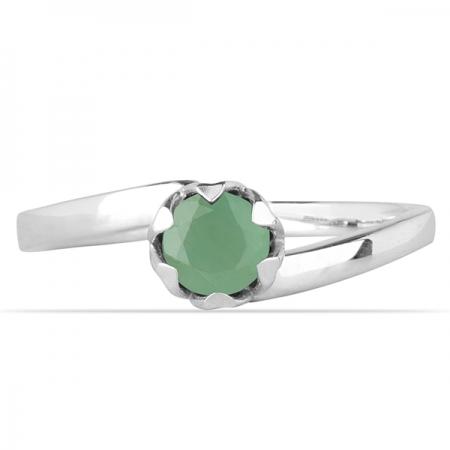 Inel argint Roxelana, 925, cu smarald - IVA00691