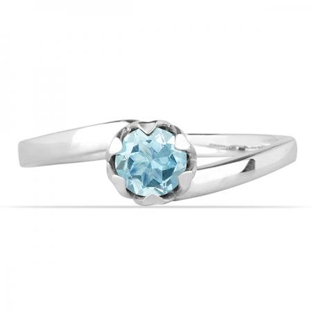 Inel argint Roxelana, 925, cu topaz albastru elvetian - IVA00721