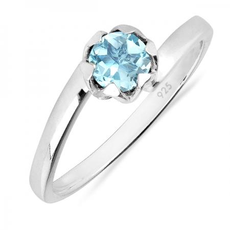 Inel argint Roxelana, 925, cu topaz albastru elvetian - IVA0072