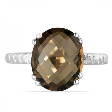 Inel argint Royal, 925, cu cuart fumuriu - IVA00021