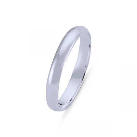 Inel argint rodiat model verigheta 3 mm latime