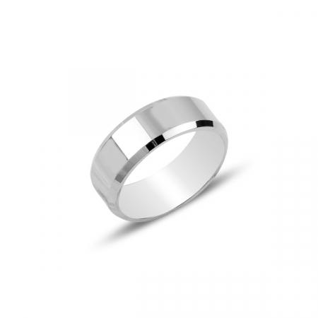 Inel argint simplu 6 mm, rodiat