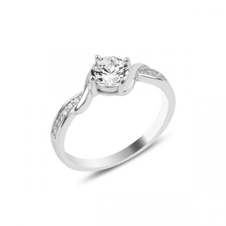 Inel argint Solitaire cu zirconiu