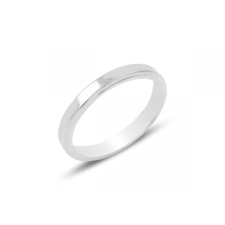Inel argint tip vergheta cu margine tesita de 3 mm latime