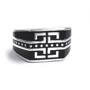 Inel barbati argint 925 negru cu argintiu