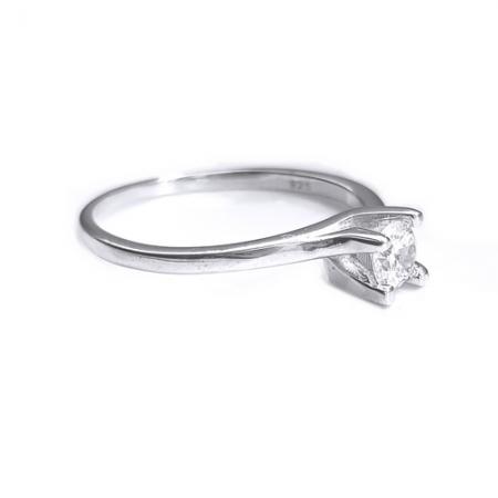 Inel din argint 925 rodiat cu zirconiu