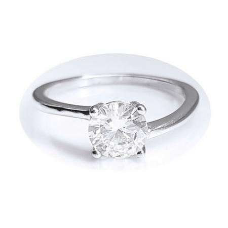 Inel elegant argint 925 cu zirconiu rotund