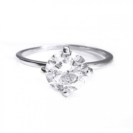 Inel elegant argint 925 rodiat cu zirconiu alb1