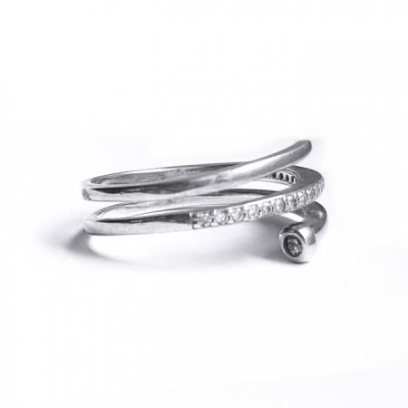 Inel elegant din argint 925 cu zirconii