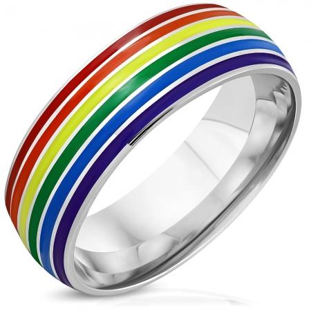 Inel inox curcubeu Rainbow ISL1082