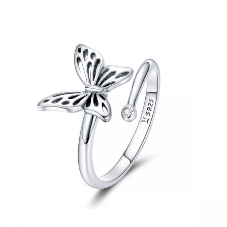 Inel reglabil argint 925 cu fluturas - Be Nature IST0068