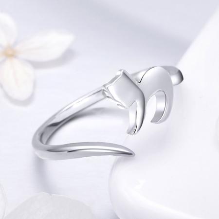 Inel reglabil argint 925 cu pisicuta - Be Nature IST00633