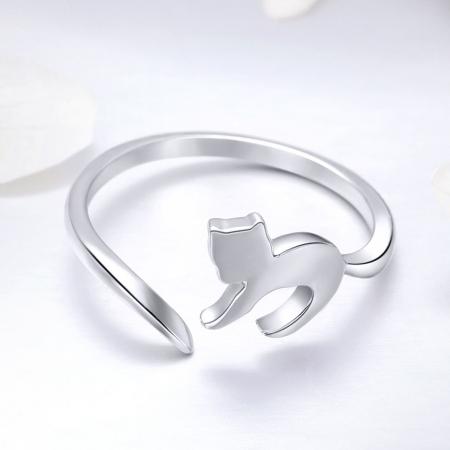 Inel reglabil argint 925 cu pisicuta - Be Nature IST00632