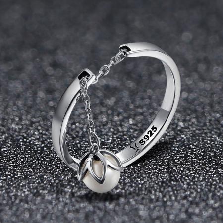 Inel reglabil argint Lacrimi de Flori5
