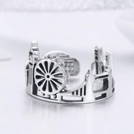 Inel reglabil argint London City3