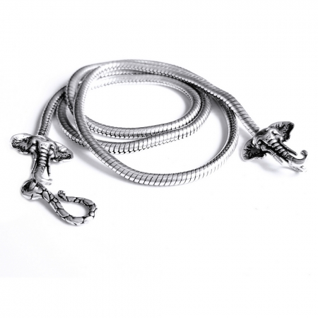 Lant argint 925 cu elefanti3