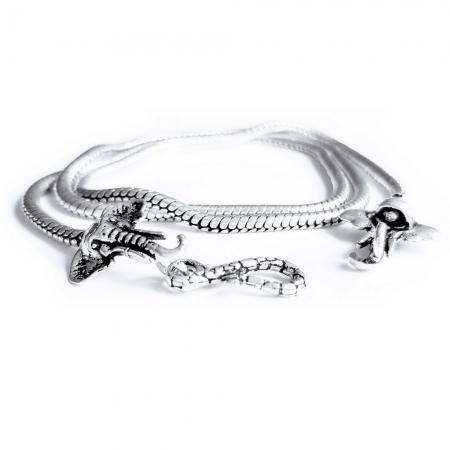 Lant argint 925 cu elefanti1