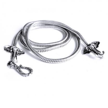 Lant argint 925 cu elefanti