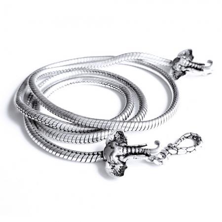 Lant argint 925 cu elefanti2