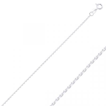 Lant argint 925 Forzentina, Latime: 1,45 mm placat cu rodiu - LTU0023