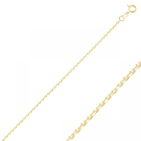 Lant argint 925 Forzentina, Latime: 2,00 mm placat cu aur galben  - LTU0026