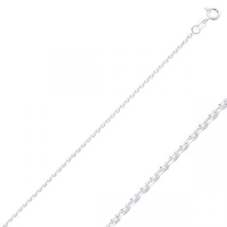 Lant argint 925 Forzentina, Latime: 2,00 mm placat cu rodiu - LTU0024