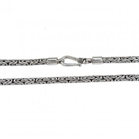 Lant argint 925 model Bali, 60 cm lungime si 2 mm grosime, LSX0206