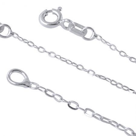 Lant argint 925 cu zale ovale 45 cm LSX0136