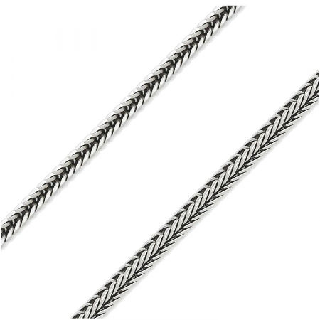 Lant argint 925 patinat spic de grau 50 cm si 2 mm LTU0011