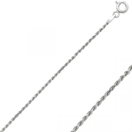 Lant argint 925 placat cu rodiu model sfoara - LTU0042